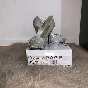 Silver Glittery Rampage Heels Size 8.5M